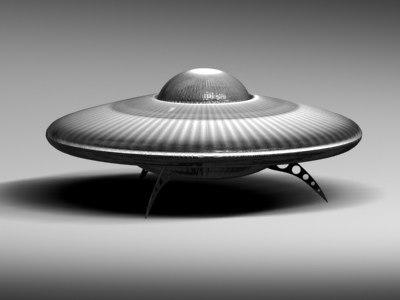 3d ufo transport aircraft model
