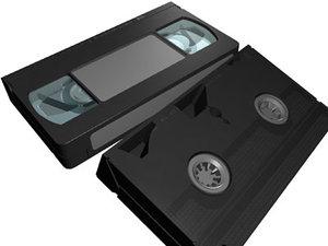 3d vhs video tape model