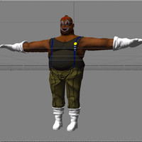 gangster thug 3d model