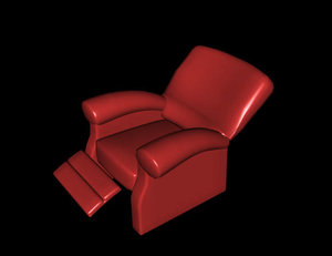 3d armchair poltrona model