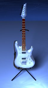 3d chrome-guitar ibanez