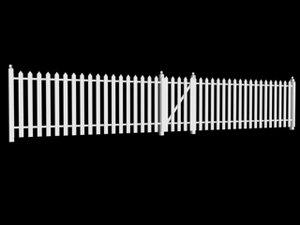 3d fence gate landscape model