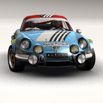renault alpine a110 rally obj