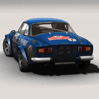 renault alpine a110 rally 3d model