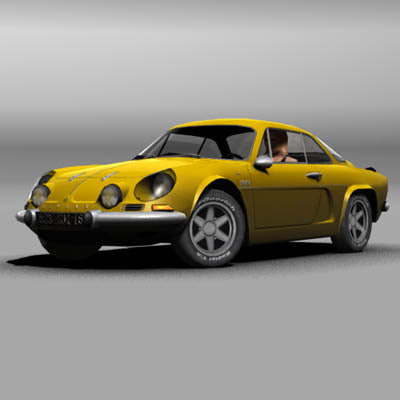3d renault alpine a110 model