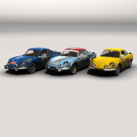 3d model renault alpine cars