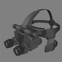 military night vision goggles 3d model