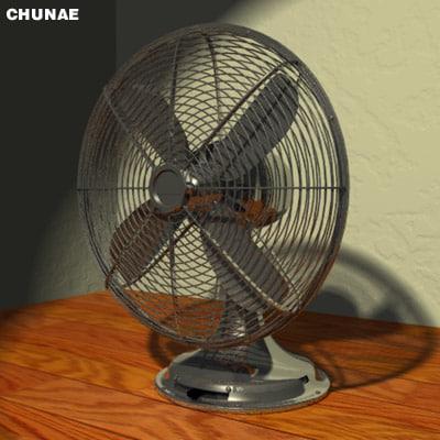 3d eletric fan model