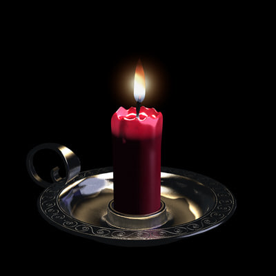 3d model candle candleholder