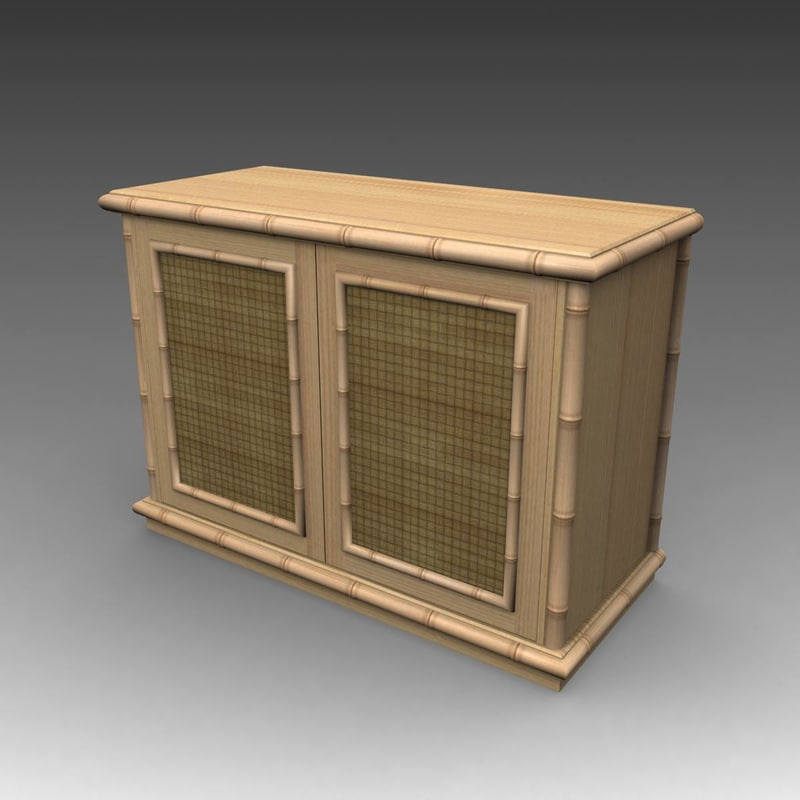 3d max sideboard bamboo
