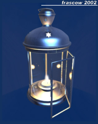 3d model old candle