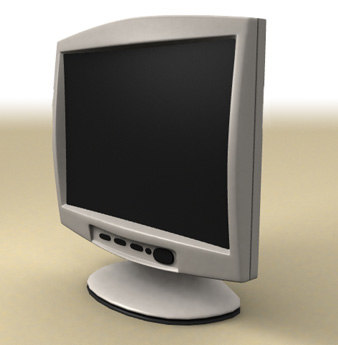 3d model flat screen lcd monitor