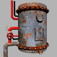 broilerschoolheateroldwatermetaltanksteam 3d model
