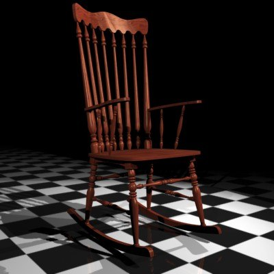 3d max rocking chair
