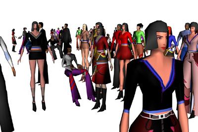 eighteen characters 3d model