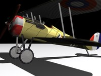 nieuport28 wwi 3d model