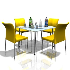 cafe table chairs model
