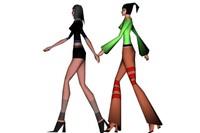 walking video 3d model
