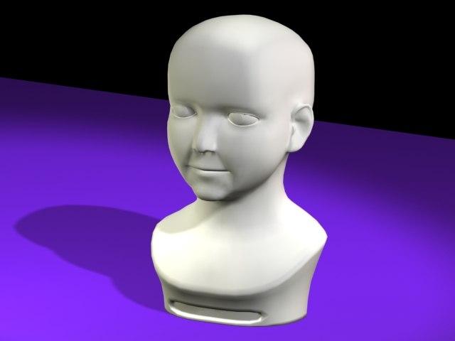 free plaster child 3d model