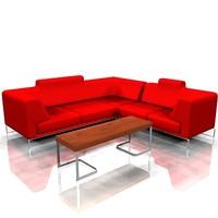 cool ferrious sofa 3d max