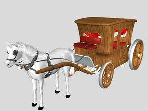 phaeton carriage 3d model