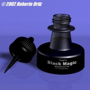 higgins ink bottle 3d model