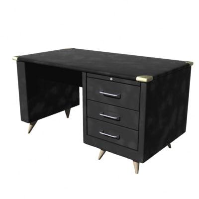 office desk 3 3d dxf