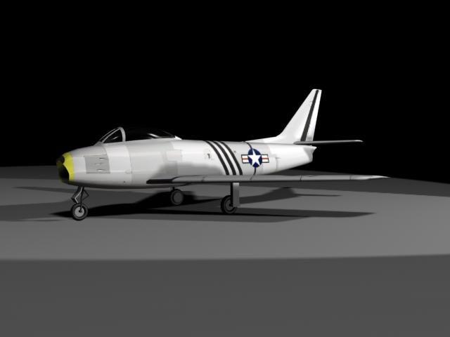 f-86 jet 3d model