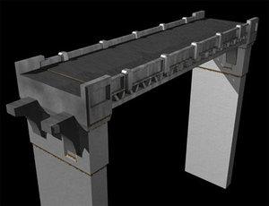 3d bridge pylon model