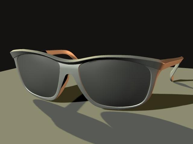 glasses 3d obj