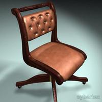 3d period chair model