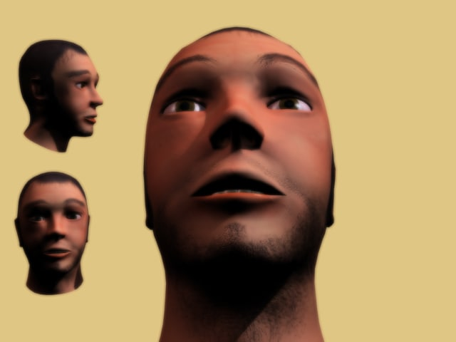 3d model face male head