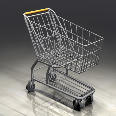 swift shopping cart supermarket 3d model