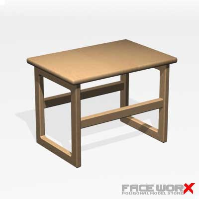 table cocktail 3d model