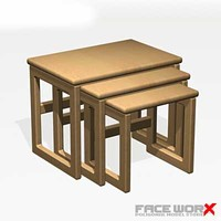 table nesting 3d max