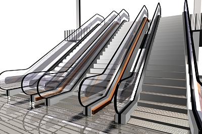 fully escalator 3d model