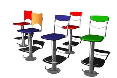 3ds max cool bar stools
