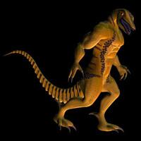 dinoman alien creature 3d model