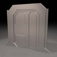 free cob model sci-fi sliding door