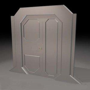 free cob model sci-fi sliding door