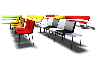 3d model chorus chairs tables