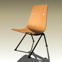 3d model jean prouve anthony chair