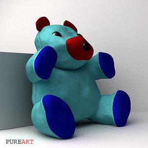 teddybear kimplo 3d ma