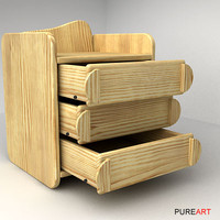 3d chest drawers furniture wood