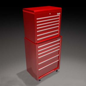 3d red toolchest model