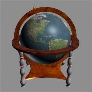 3d of rotating globe