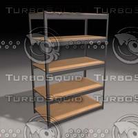 3d gorilla shelves model