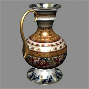 17th vase 3d model