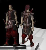 3ds warrior medieval