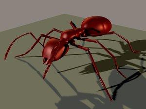 army ant 3d obj